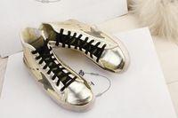 2015 new golden goose deluxe brand scarpe genuino dell'uomo del cuoio delle donne ggdb oro sneakers 100% di alta qualità scarpe uomo