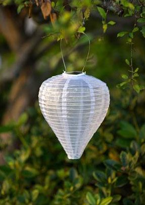 check out the deal on outdoor solar lantern pearl colored teardrop at battery operated candles - Outdoor Solar Lanterns