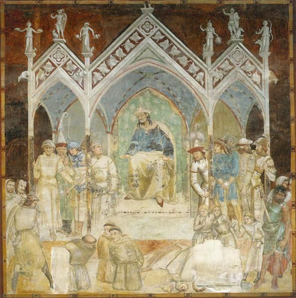 Martyrdom of the Franciscans, 1327 - Ambrogio Lorenzetti