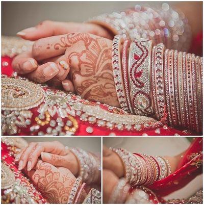wedding chura, mehndi & nails