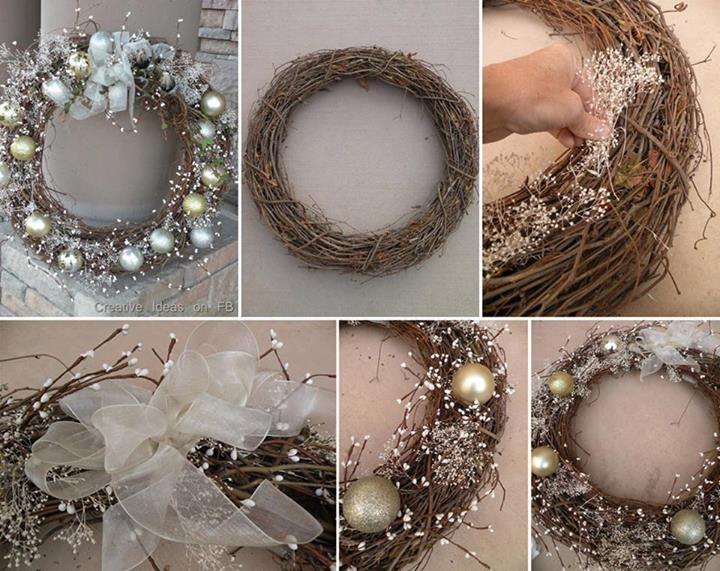 How to make pretty Christmas wreath step by step DIY tutorial instructions, How to, how to do, diy instructions, crafts, do it yourself, diy website, art project ideas
