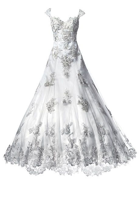 Brides.com: How to Find the Perfect Wedding Dress for Your Body Type. Wedding Dresses for Plus-Size Body Types: Justin Alexander. Minimize your hips and shrink your waist in an A-line wedding dress.  A-line beaded dress, style 8653 (available in sizes 4-32), Justin Alexander