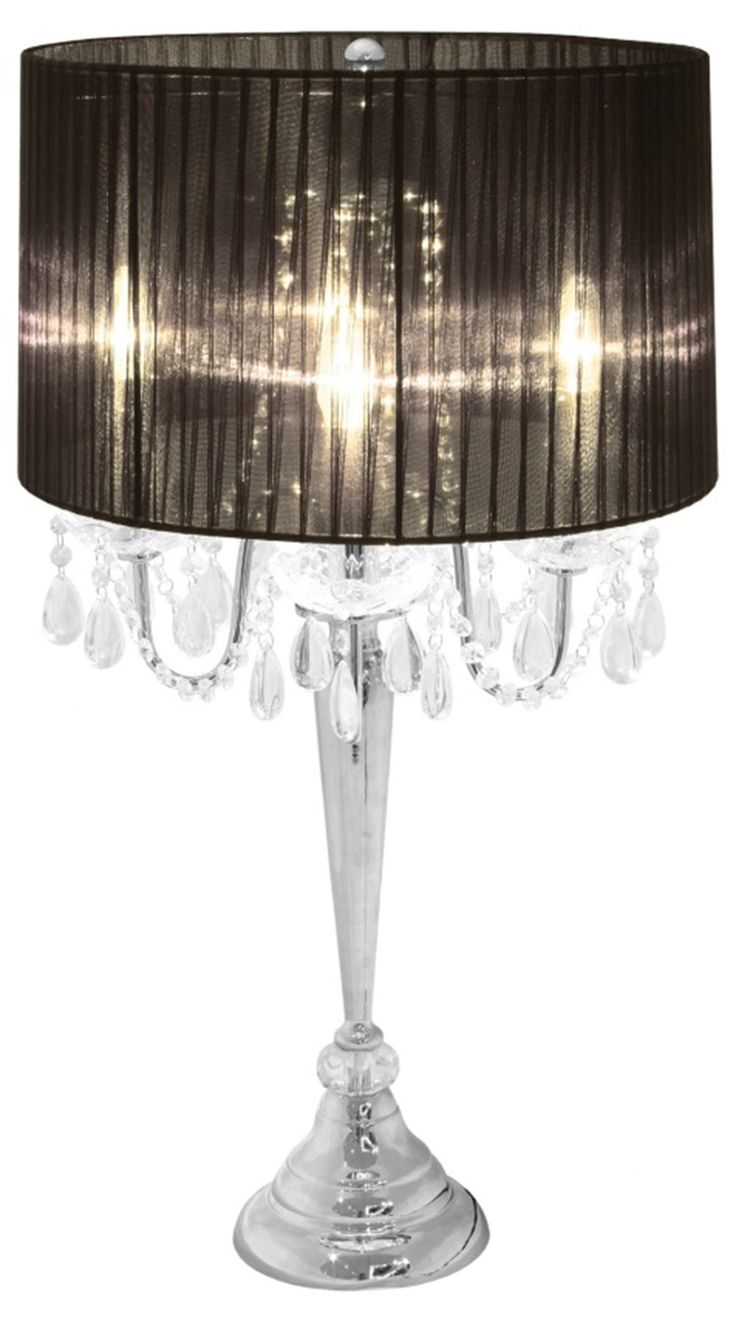 Black table lamp with crystals - All The Rages Trendy Sheer Table Lamp Http Www Wayfair Com