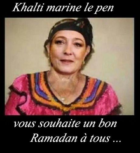 marine le pen Ramadan 2016