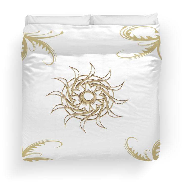 Golden Swirls- Duvet Cover