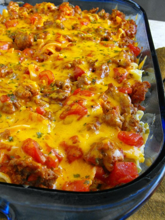 Beef Lombardi: this could become your favorite beef-tomato-pasta casserole!