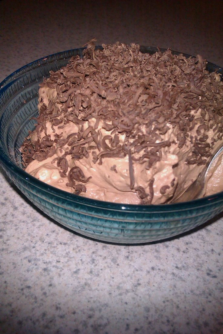 Carb or sugar craving? A couple of spoonfuls of this no carb. no sugar chocolate mousse helps get ya through.