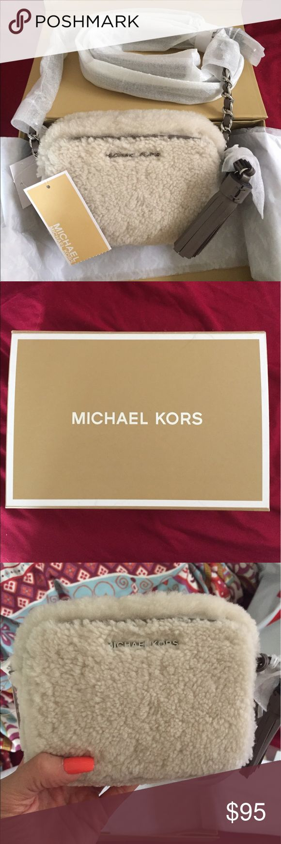 Michael Kors Jet Set Travel Shearling Crossbody Brand new Michael Kors crossbody bag. Still in box with tags and all packaging attached! Retails for $148! MICHAEL Michael Kors Bags Crossbody Bags