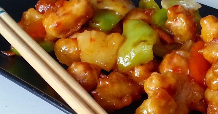 Nueva semana y nueva receta, y hoy, con otro plato clásico de la comida china, un CERDO AGRIDULCE, con todas sus verduras, muy fácil y con ...
