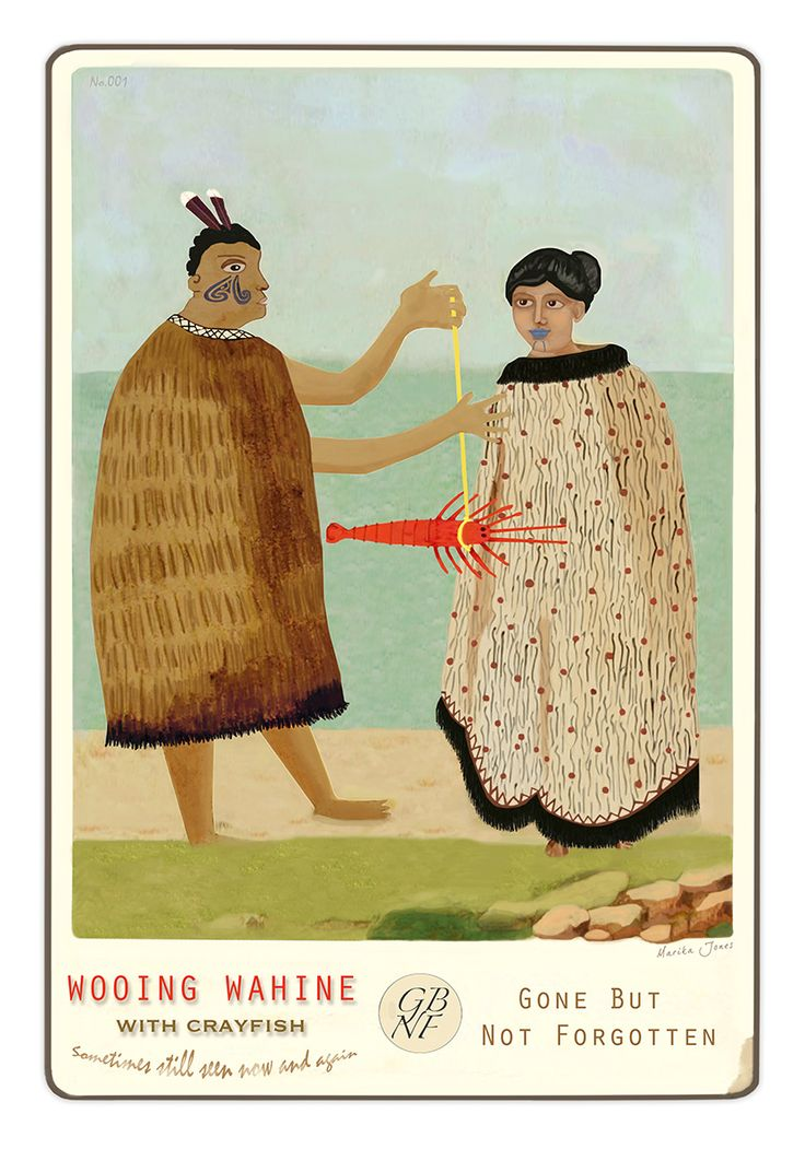 Wooing Wahine - from the Gone But Not Forgotten collection by Marika Jones. www.imagevault.co.nz