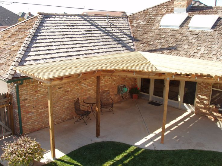 43 best patio roof designs images on pinterest patio for Patio cover construction plans