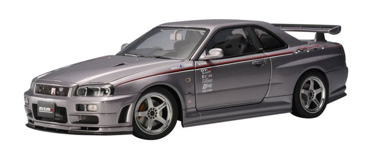 Amazon.com: Nissan Skyline GTR (R34) Nismo s-tune (Plata) (Diecast Model): Toys & Games