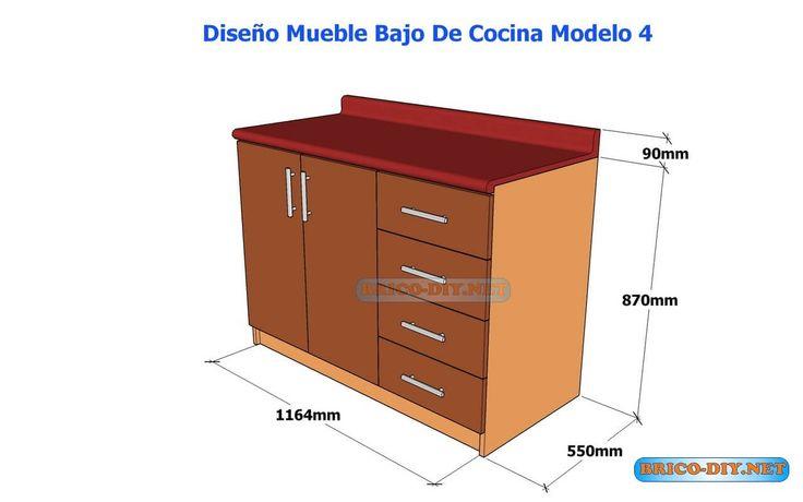 44 mejores im genes sobre muebles de cocina melamina for Disenos de muebles para cocina en madera