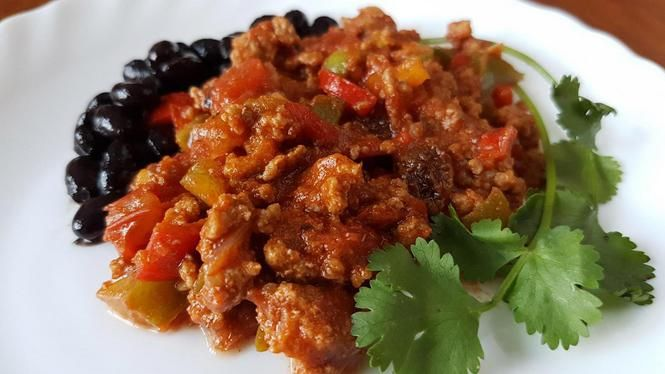 Cubaanse picadillo, gehaktschotel met paprika