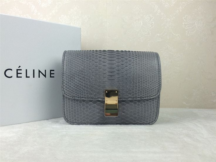 Celine Box Bag Grey