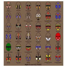native american face paint meanings - Google Search