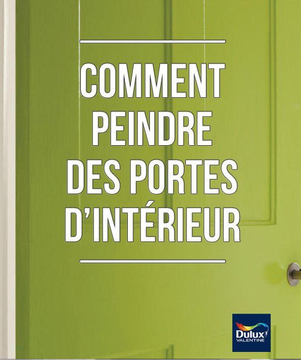 Conseils pour réussir votre finition en peignant vos portes d'intérieur...