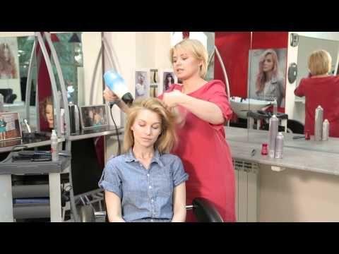 Объемная укладка для коротких волос - YouTube
