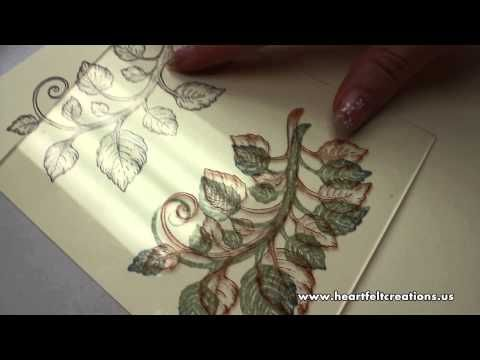 How To Color or Glitter Your Stamped Images Quickly - Heartfelt Creations ~ YouTube