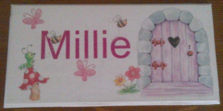 Personalised bedroom door plaques. £6.10.