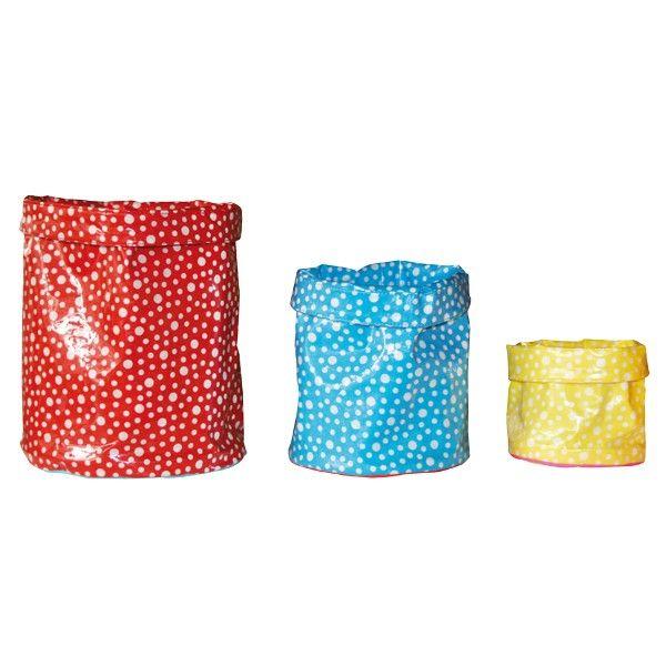 Corbeille Petit Pan en coton enduit pour vivre en multicolore !