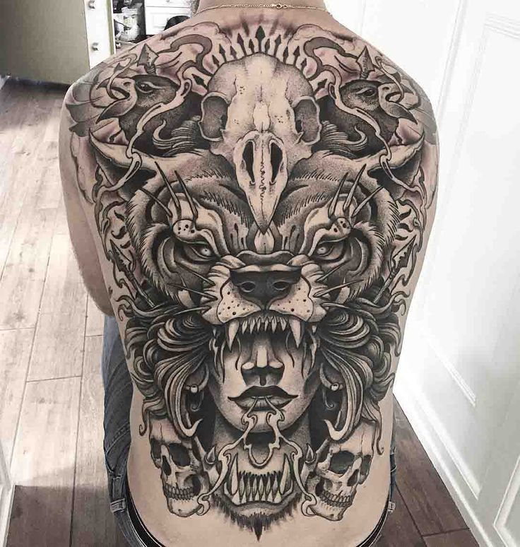 full back tattoo awesome and big