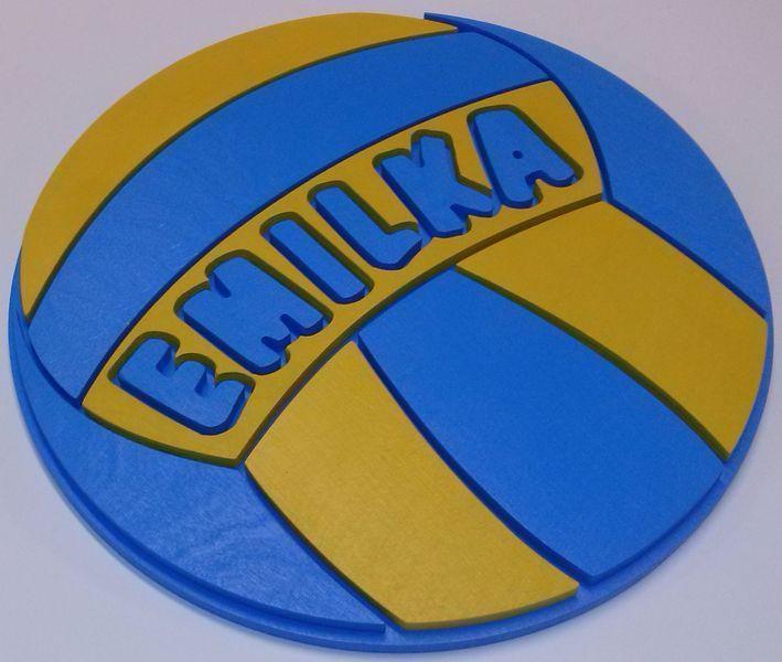 Piłka z imieniem w vitro4u na DaWanda.com