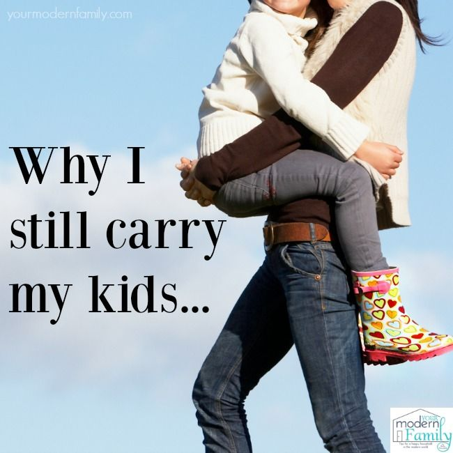 A really sweet post from Your Modern Family about carrying our kids as they get older and bigger. Do you still carry your children? #parenting
