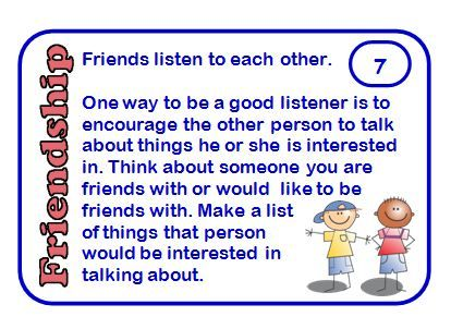 Free: Friendship cards with social skills prompts for discussion or writing.