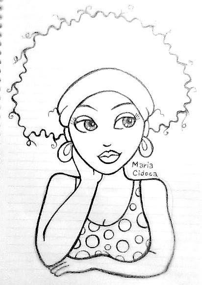 menina negra - Maria Cidoca