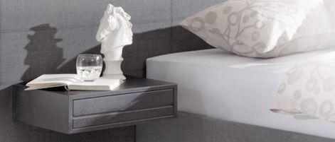 Swissflex nachttafel anthracite,wenge,noten, grijs, hout,zwevend, lade, hout, hangt aan het hoofdpaneel, design,modern,dealer slaapkenner theo bot, zwaag