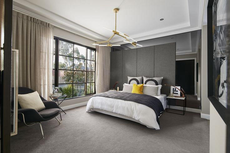 GUEST: Simplicity takes the reigns in this showcase guest room. Structured lines, classical features and a predominately monochromatic palette create a wonderful and ever-stylish fusion. Visit High Street on our Lookbook here: http://www.metricon.com.au/get-inspired/lookbook/high-street