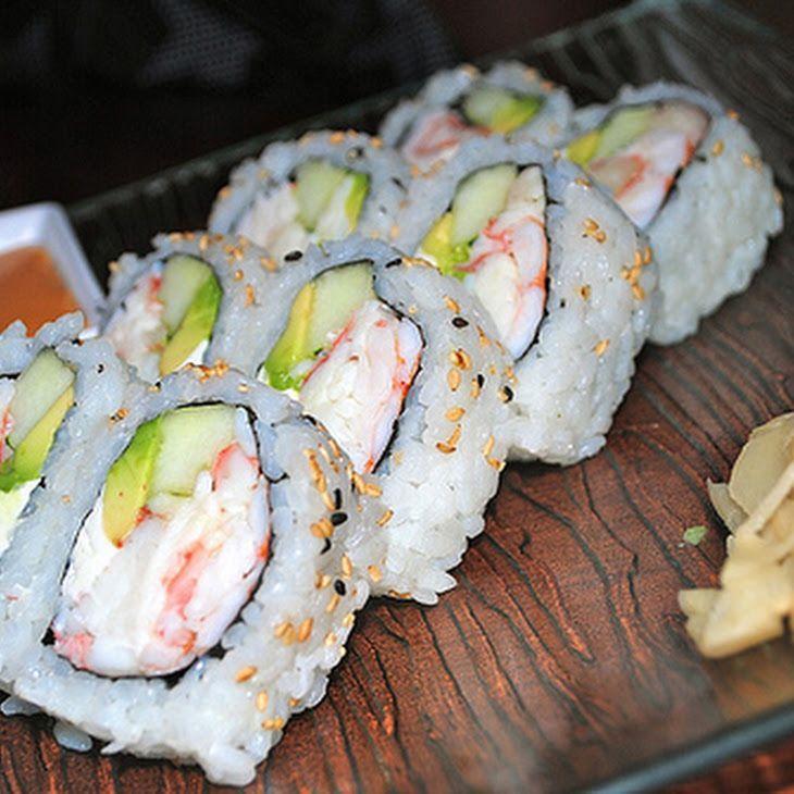 Avocado and Shrimp Sushi Recipe #Christmas #thanksgiving #Holiday #quote