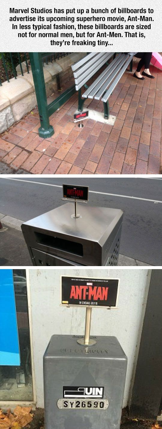 Marvel's 'Ant-Man' Get's Tiny Billboards