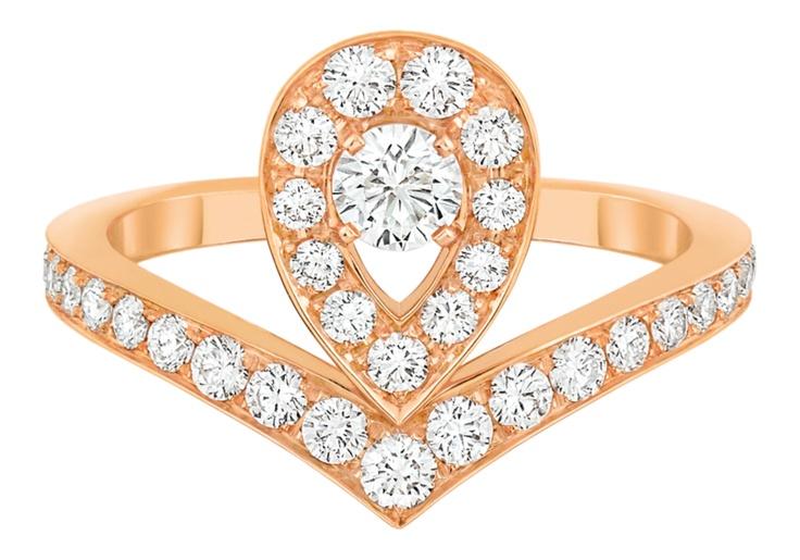 Diamond Tiara Rose Gold Ring