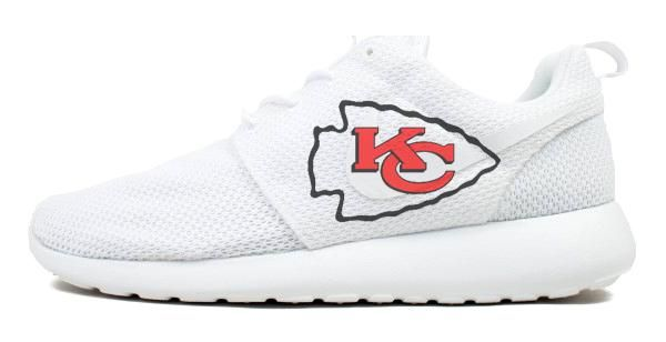babed512e0b Bandana Fever KC Chiefs Print Custom Nike Roshe Shoes in 2019 ...