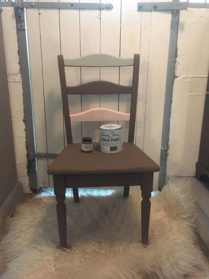 Måtte teste ny farge fra Annie Sloan Chalk Paint denne er malt med Honfleur, Antoinette og Paris Grey hos @LaveLykke