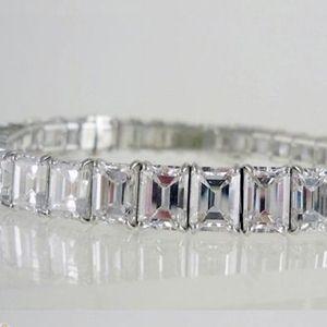 Diamantring / Diamantarmband / Diamantschmuck: Diamant Armband aus 750er Weißgold (30.00 Karat)