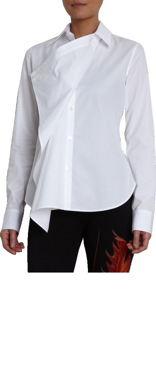 Yohji Yamamoto Drape Front Shirt