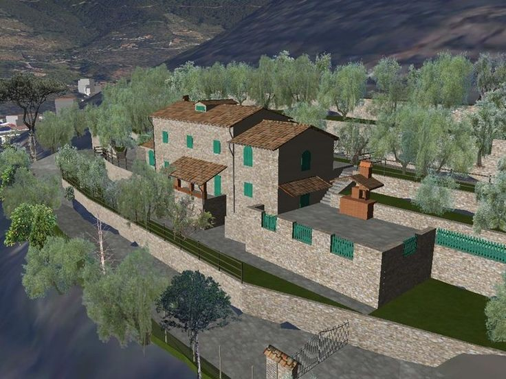 Rendering di un rustico a Calci, Calci, 2012 - Alberto Antinori