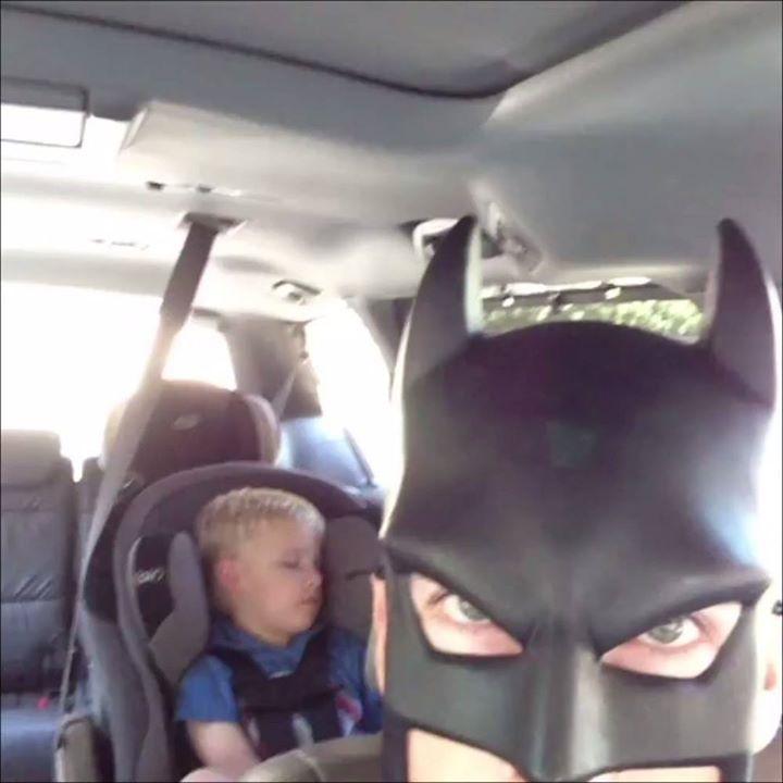 Batman by night, batdad by day... 🦇  Batdad