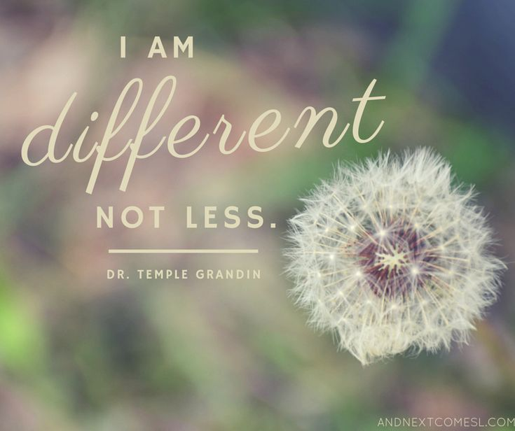 I am Different not Less....Temple Grander. Wonderful words to be inspired by. Words we at Kaleidoscope Counseling Flower Mound and Highland Village try to share with all our clients. http://www.kaytrotter.com
