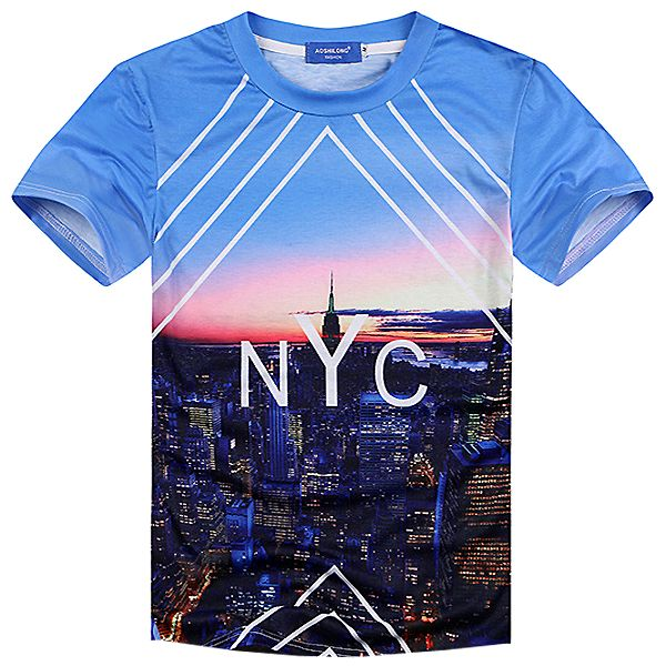 The NYC Tee, a graphic printed top with a fresh t shirt design as part of our mens clothing collection. Free shipping worldwide!
