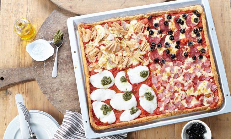 Pizza mit Quark-Öl-Teig Rezept | Dr. Oetker