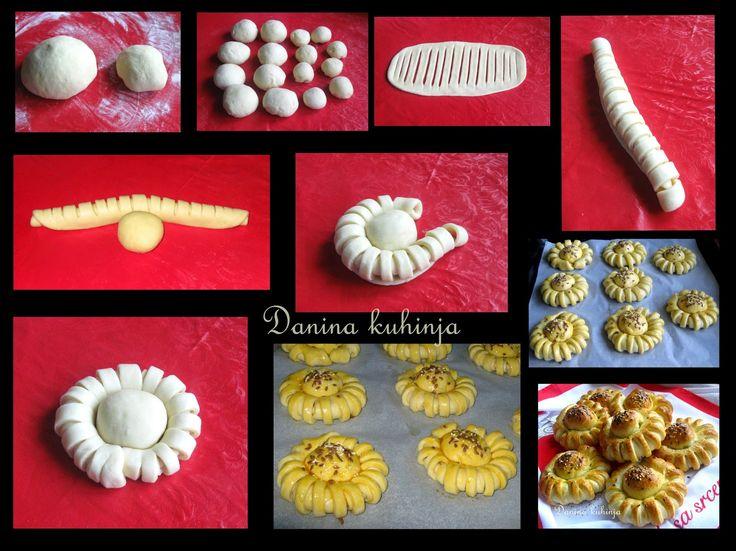 Danina kuhinja: Pogačice cvetići