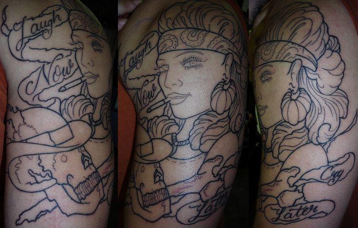 Chola Girl Tattoo Designs Pin First Girls Hats Tattoos