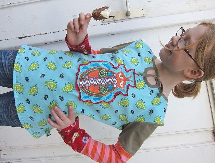 Shirt nähen, Schnittmuster farbenmix, Stoff, Jersey