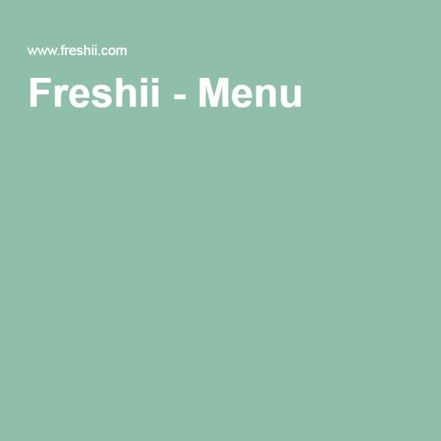 Freshii - Menu