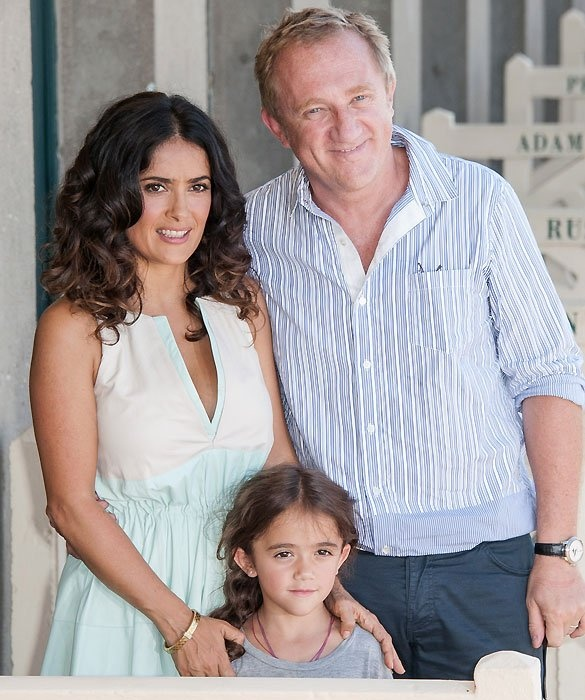 Salma Hayek -- In 2007, Salma and husband François-Henri Pinault welcomed daughter Valentina Paloma Pinault. Since having her daughter, Salma has been an outspoken proponent of breast-feeding. She even breast-fed a hungry newborn baby during a UNICEF trip to Sierra Leone.