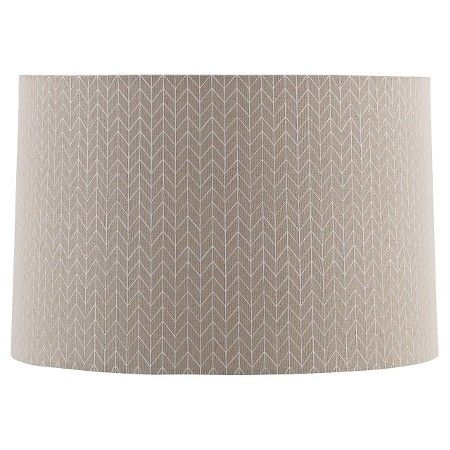 straight drum outline chevron lamp shade large beige with cream. Black Bedroom Furniture Sets. Home Design Ideas